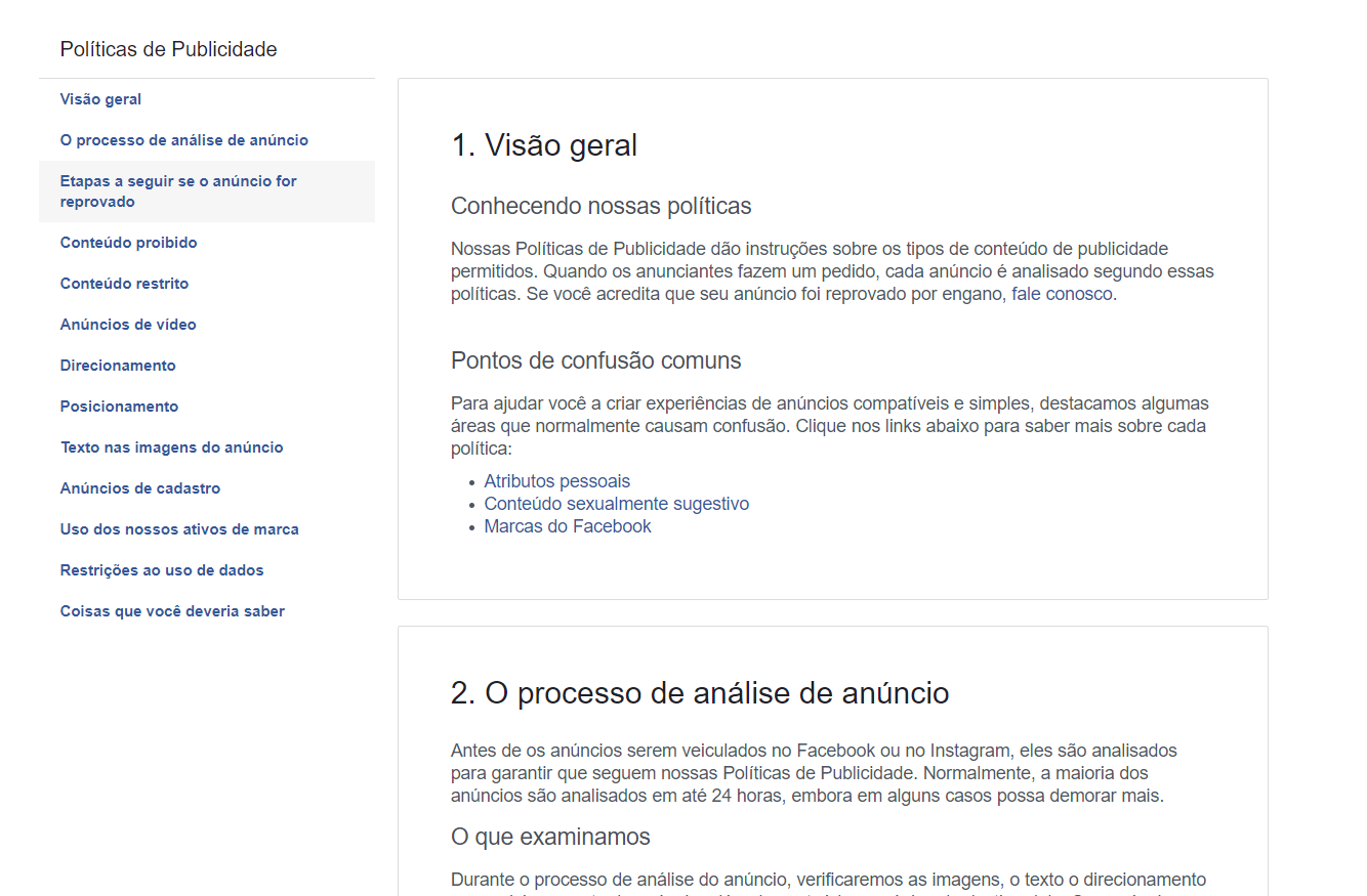 facebook ads para afiliados diretrizes do facebook
