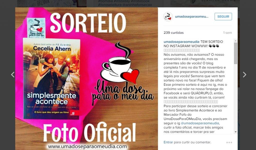 sorteio instagram - como ganhar seguidores no instagram