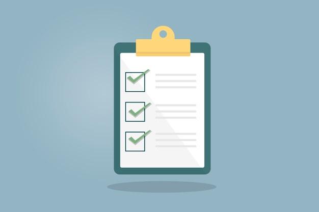 exemplos de checklist