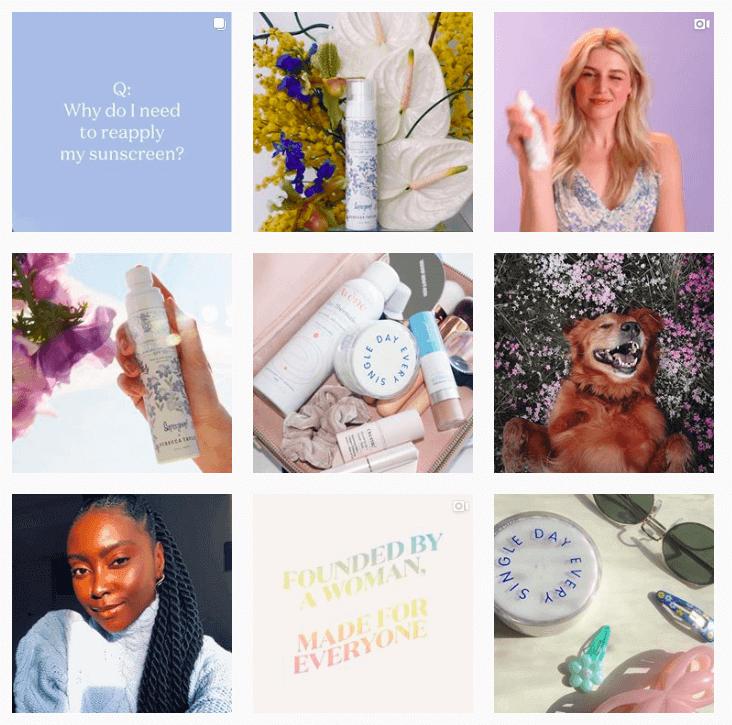 feed do instagram exemplo