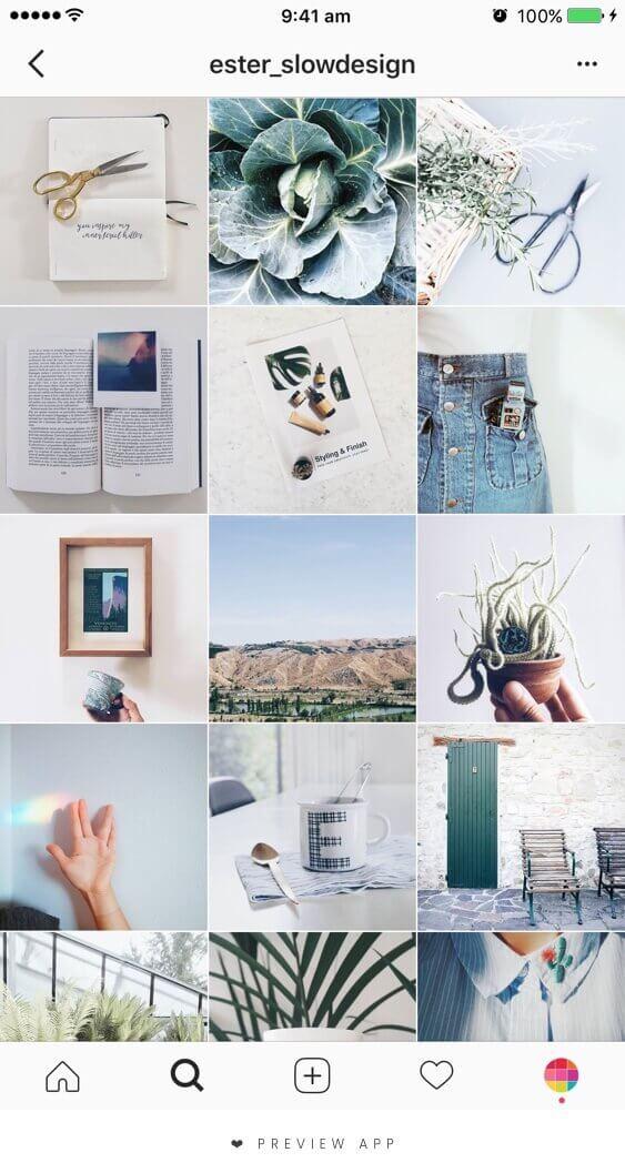 verifique o fundo das fotos do feed do instagram