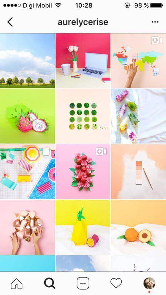 color block feed do instagram