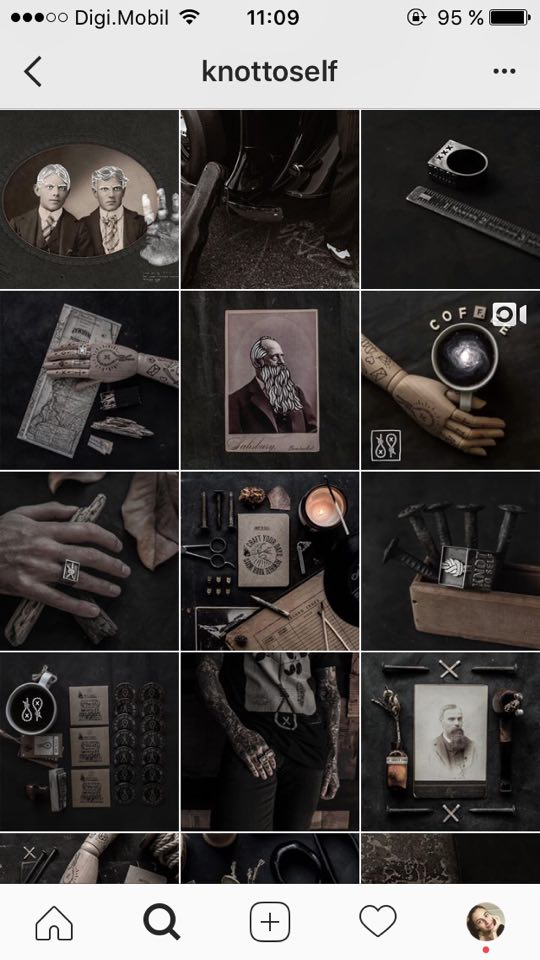 feed do instagram sombrio