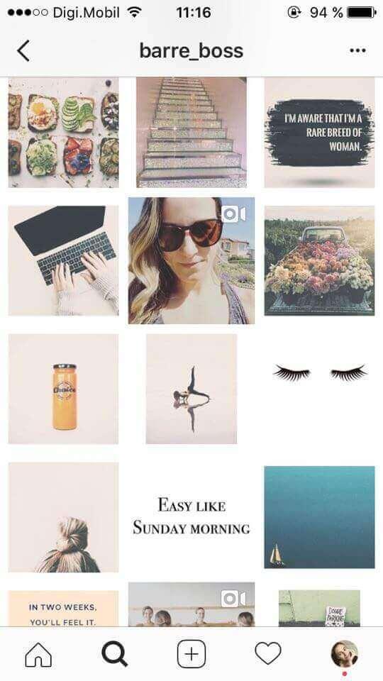 bordas brancas no feed do Instagram
