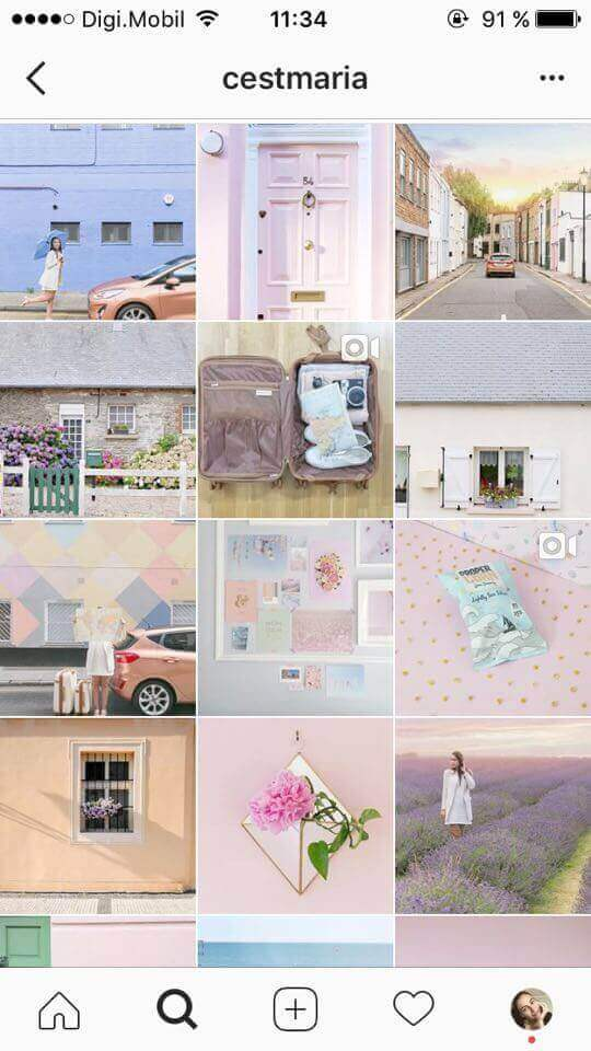 feed do instagram cores pastel