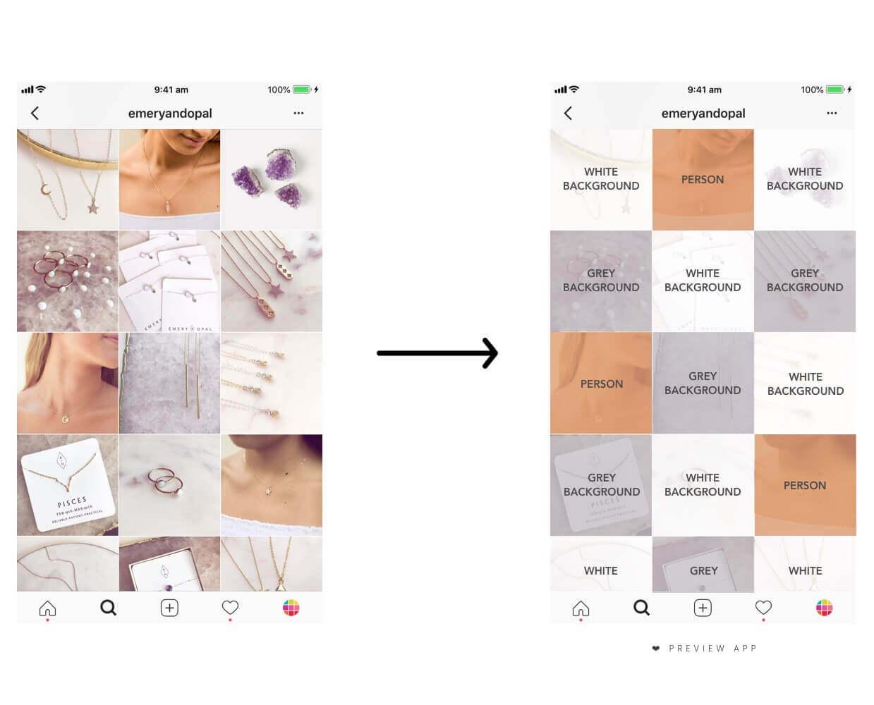 feed de instagram limpo