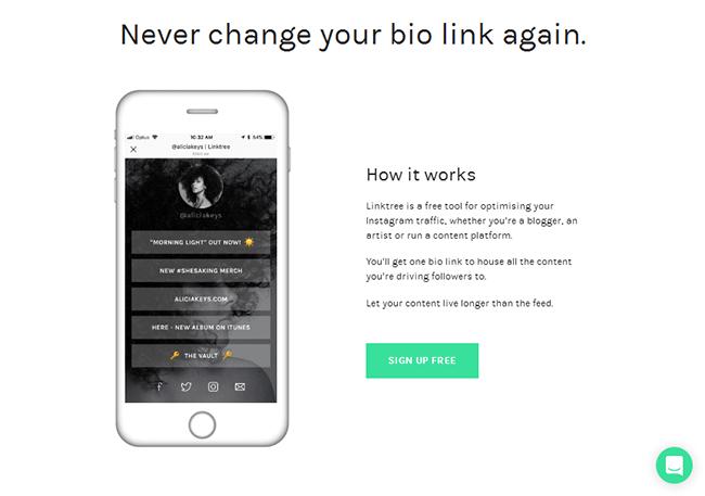 link na bio linktree