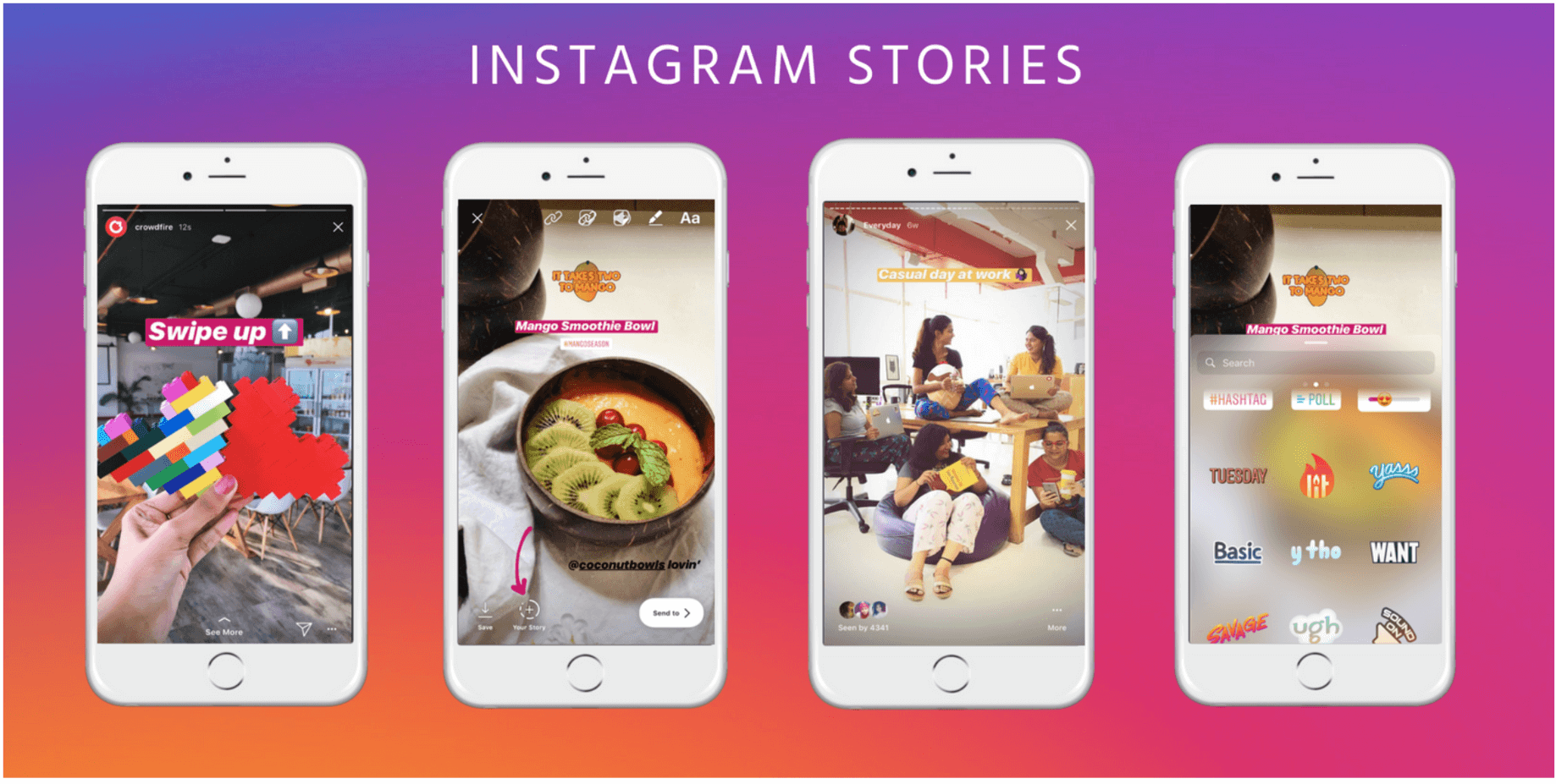 exemplo de story do instagram