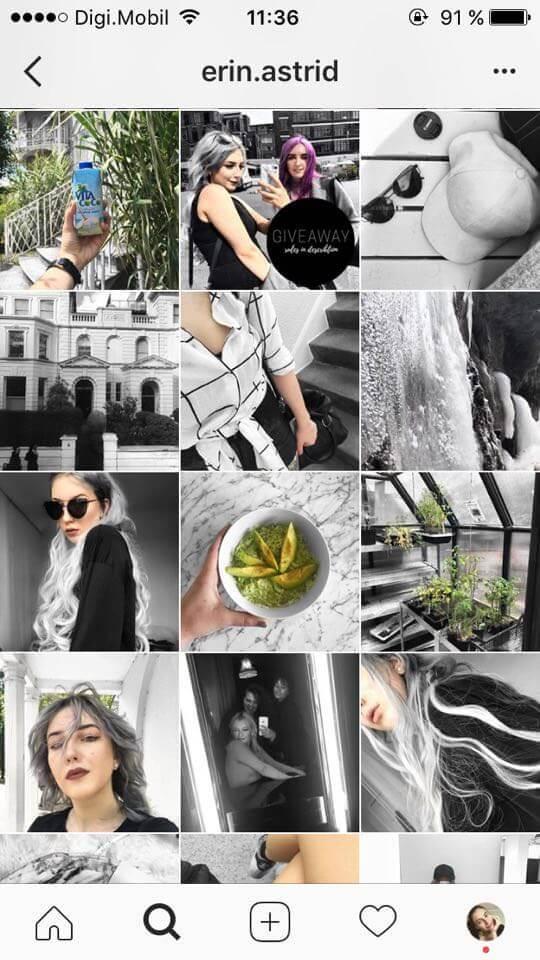 feed do instagram color splash