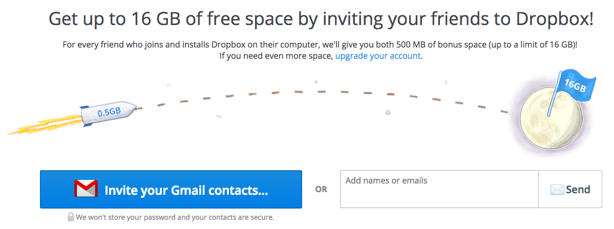 Exemplos de Growth Hacking - DropBox