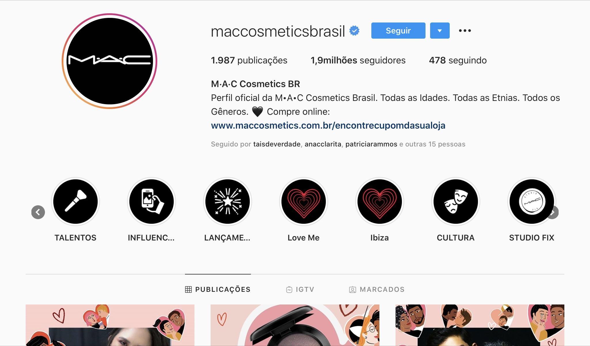 Exemplos para Criar Destaques do Instagram - Mac